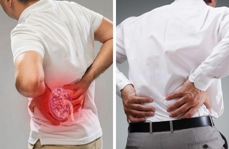 Đau lưng do thận yếu, có các bệnh liên qua đến thận