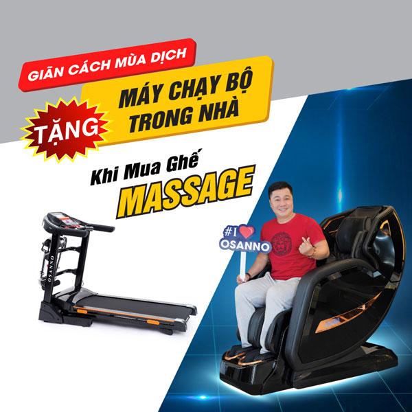 Tặng máy chạy bộ khi mua ghế massage Osanno OS-868